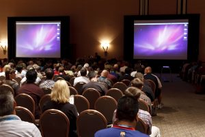 LAS VEGAS - SEPT 1: Photoshop World 2010 conference classroom. September 1 2010 in Las Vegas Nevada.