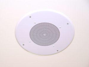 Integrated built-in speaker in ceiling