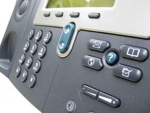 Modern Digital IP Phone Isolated on white background
