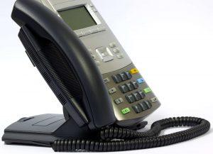 A Modern IP Handset against white background